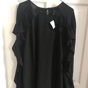 NWT H&M Black size 8 / Eur 38 Ruffle Shift Dress